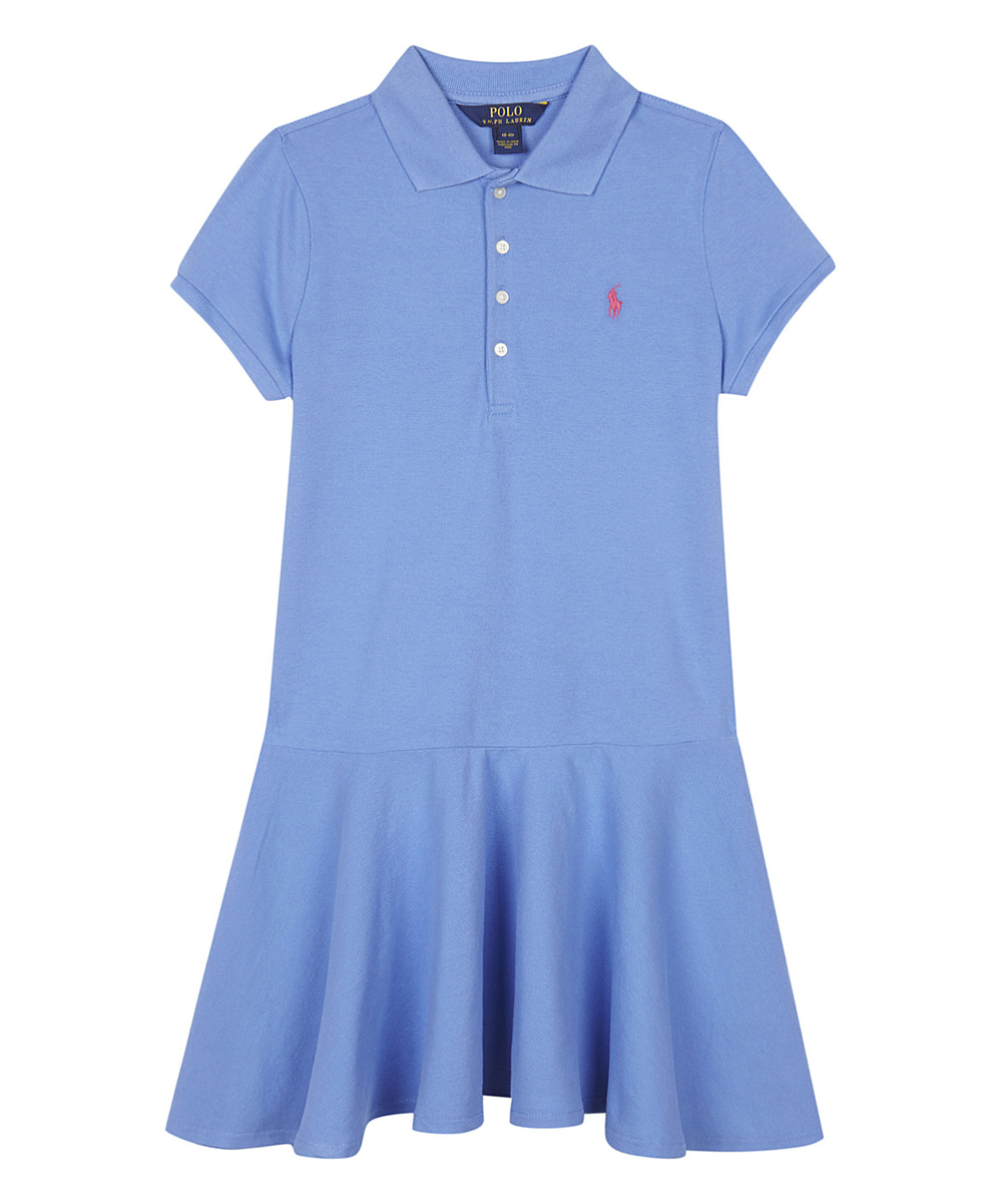 Juniors Mesh Polo Heather Stretch Blue Ralph Dress Lauren FJ3ucT1lK