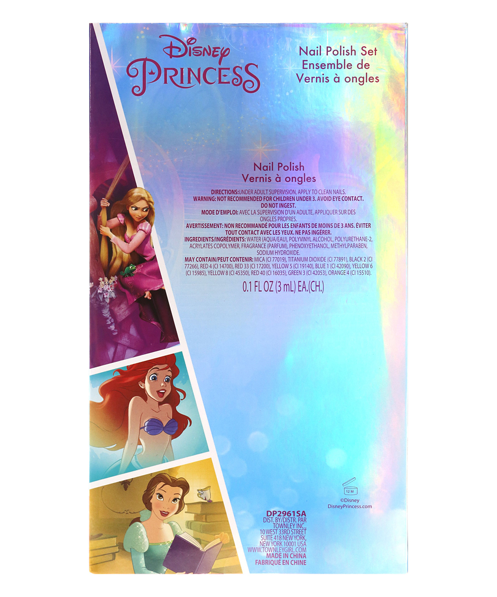 Townley Girl Disney Princess Dress Nail Polish Set