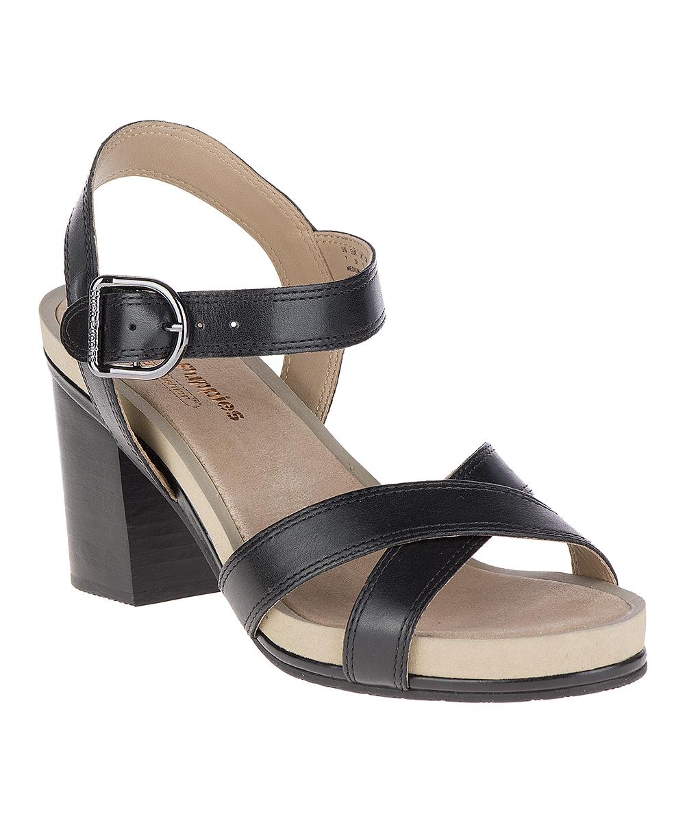 3c2866b93a2 Hush Puppies Black Mariska Buckle Quarter Leather Sandal - Women