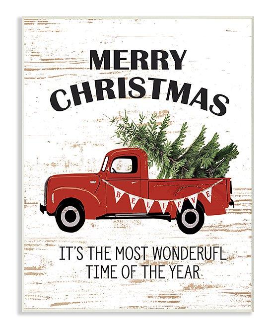 Stupell Industries Merry Christmas Red Truck Wall Art | zulily