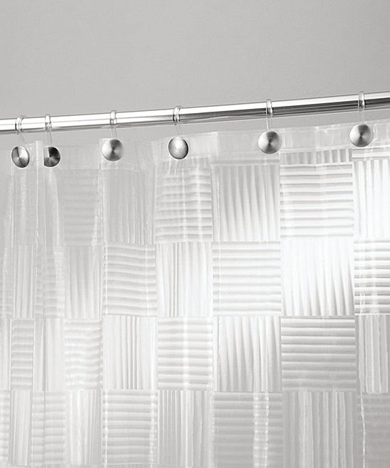 InterDesign Frost Glass Block Shower Curtain