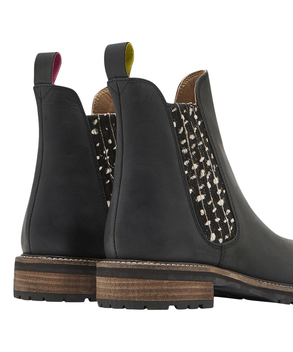 268dfb00fb7 Joules Black Spot Clarendon Leather Chelsea Boot - Women