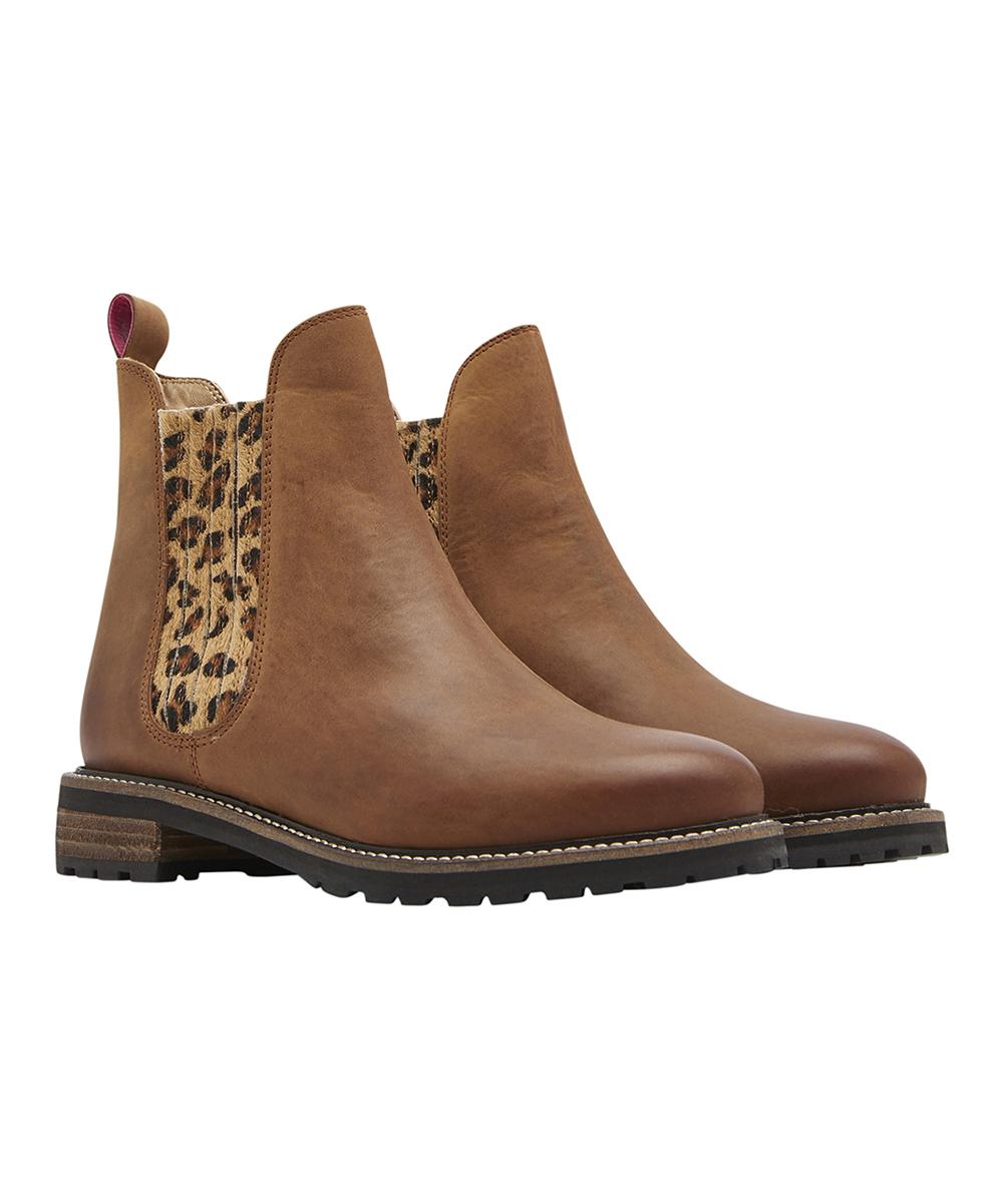 01364e8c5ec Joules Leopard Clarendon Leather Chelsea Boot - Women