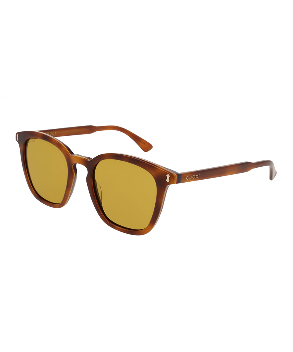 Havana & Brown Square Sunglasses - Men Havana & Brown Square Sunglasses - Men. Shade your peepers in smart sun-shielding style with these chic sunglasses sporting a fashion-forward design. Includes sunglasses, cleaning cloth and caseLens width: 49 mmBridge distance:12 mmArm length: 145 mmAcetate / plastic100% UV protectionImported