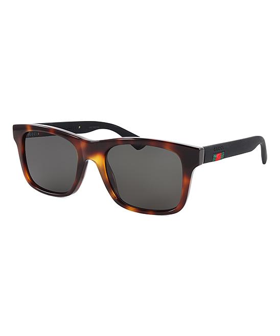 Havana & Black Square Sunglasses - Men Havana & Black Square Sunglasses - Men. Leave 'em asking,  Where'd you get those shades?  when sporting these runway-worthy sunglasses. Includes sunglasses, case and cleaning clothLens width: 53 mmBridge distance: 20 mmArm length: 145 mmPlasticImported