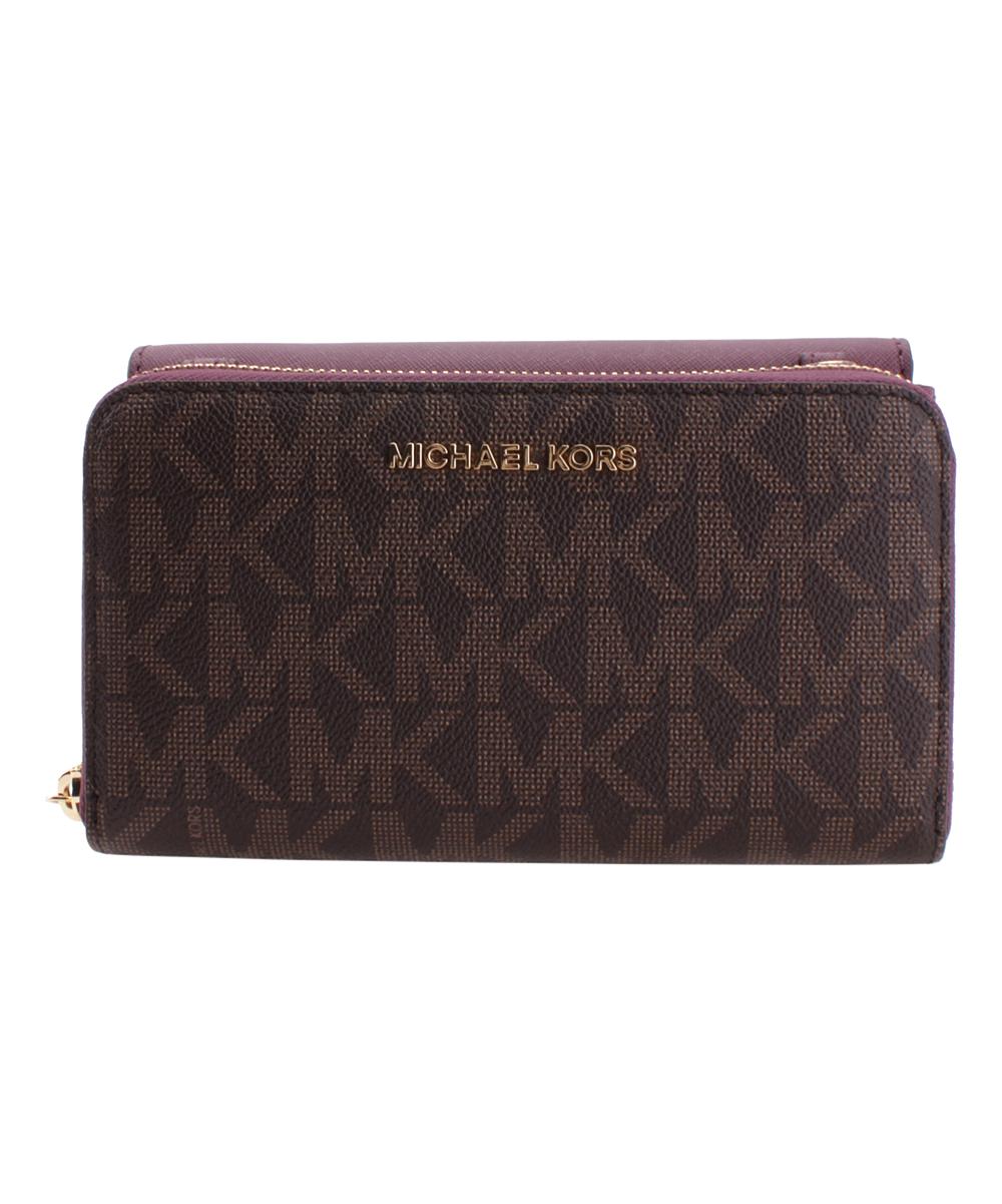 4e88c644c529 all gone. Brown & Plum Tina Leather Crossbody Bag & Detachable Wallet