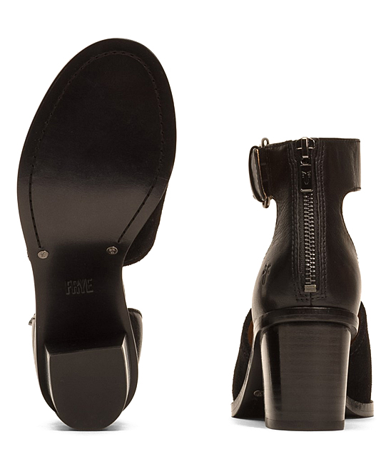c1eb913cb97069 ... Womens BLK Black Brielle Ankle Strap Suede Sandal - Alternate Image 4  ...
