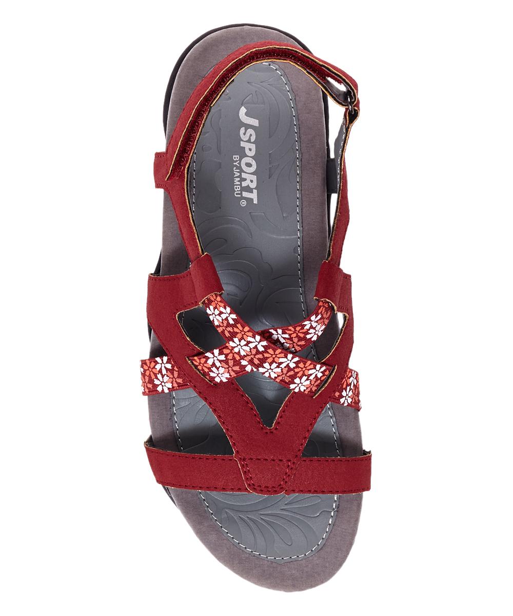 e998d4b15c7 ... Womens RED Red Woodland Sandal - Alternate Image 4 ...
