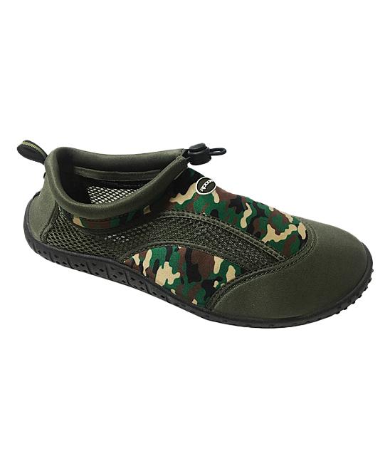 Rockin Footwear Women's Water shoes GREEN - Green Aqua Camo Water Shoe - Women