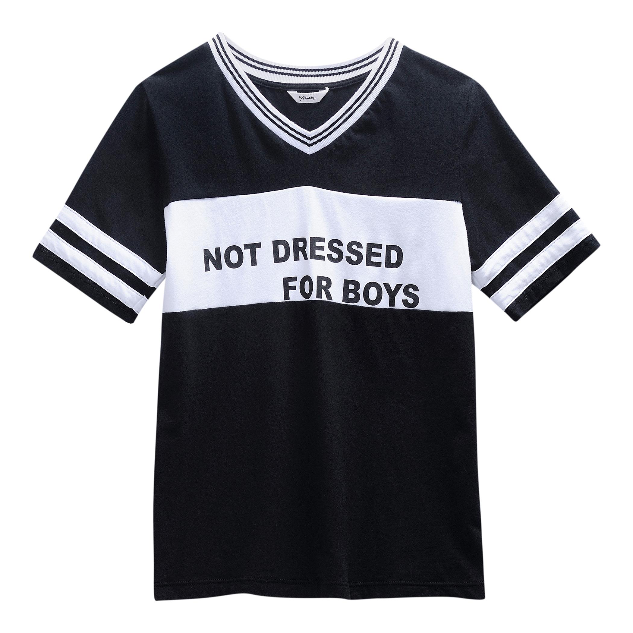 Maddie Black White Not Dressed For Boys V Neck Tee Girls Zulily
