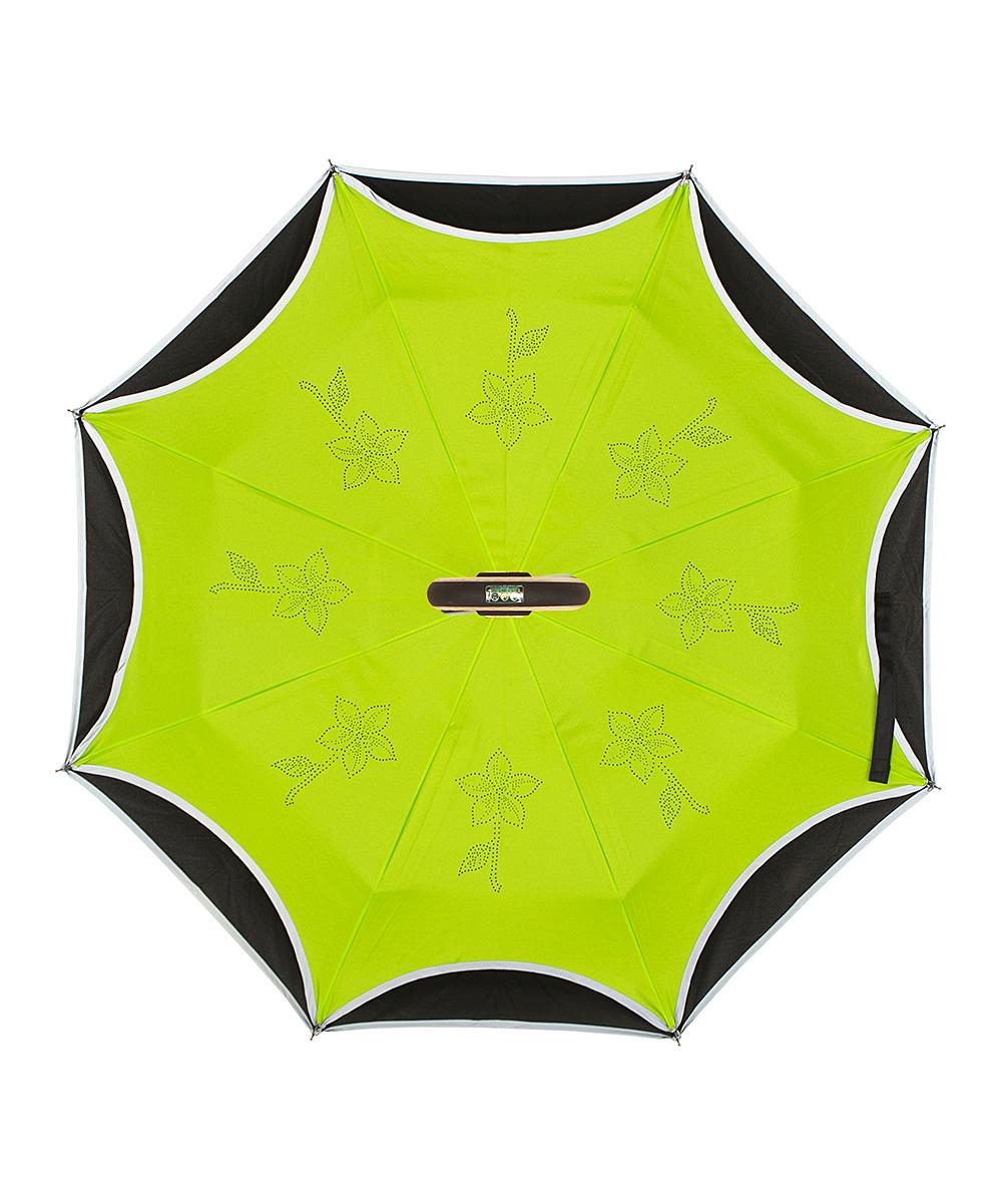 fb5aaf5233eb1 ... Womens green/black Green & Black Smart Umbrella - Alternate Image ...