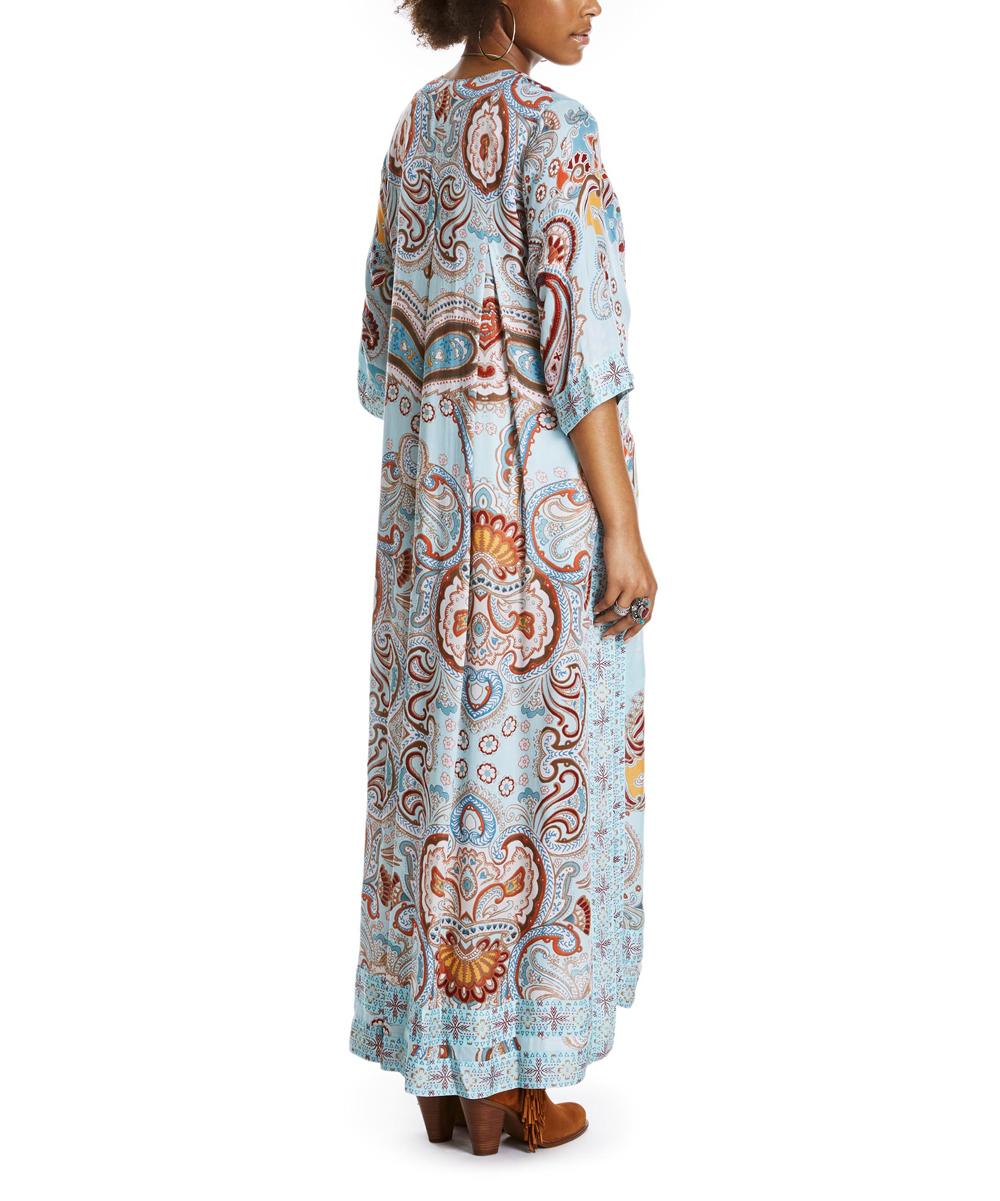 a44008506 Odd Molly Light Turquoise Paisley Kimono | Zulily