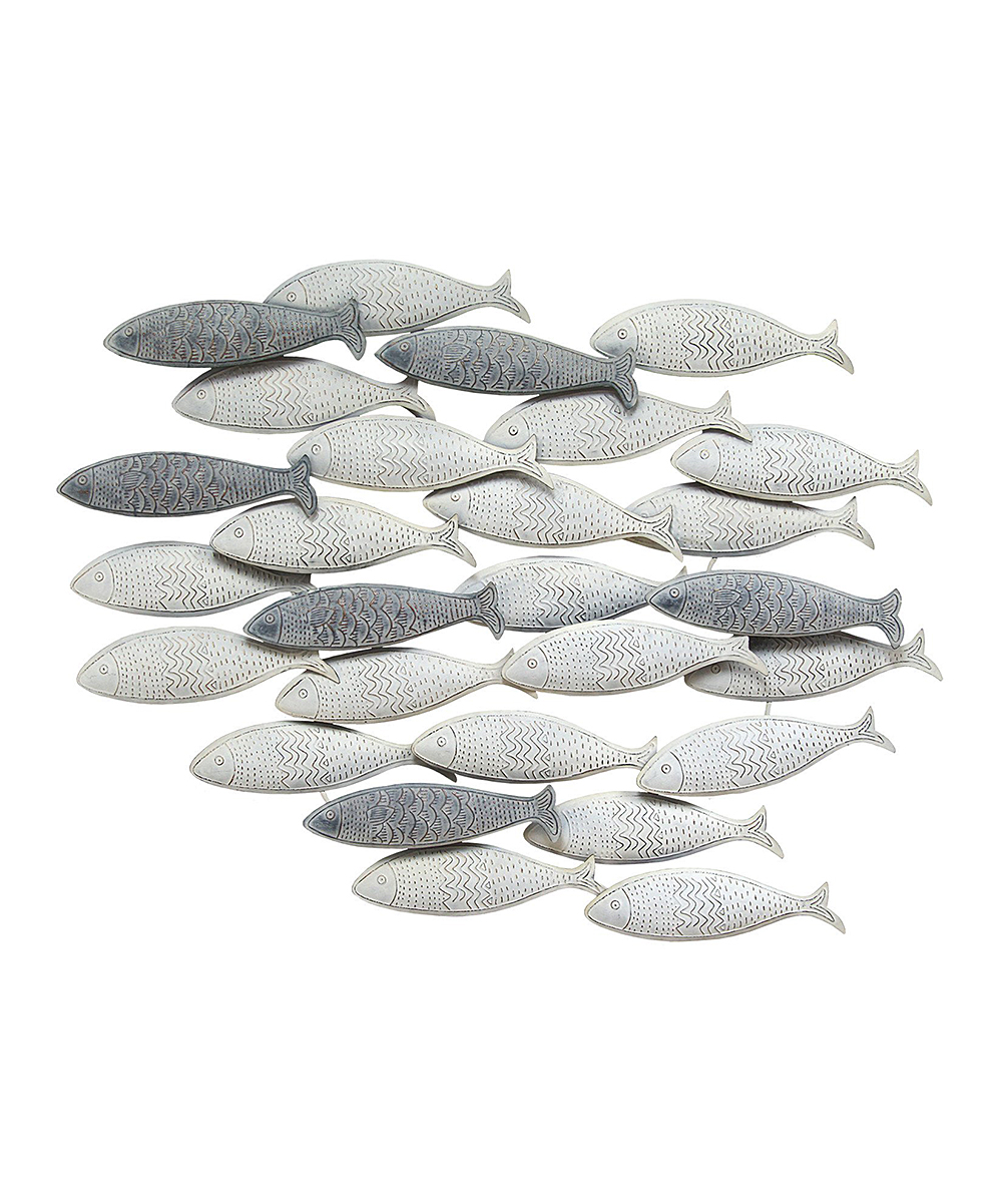 All gone gray school of fish wall décor