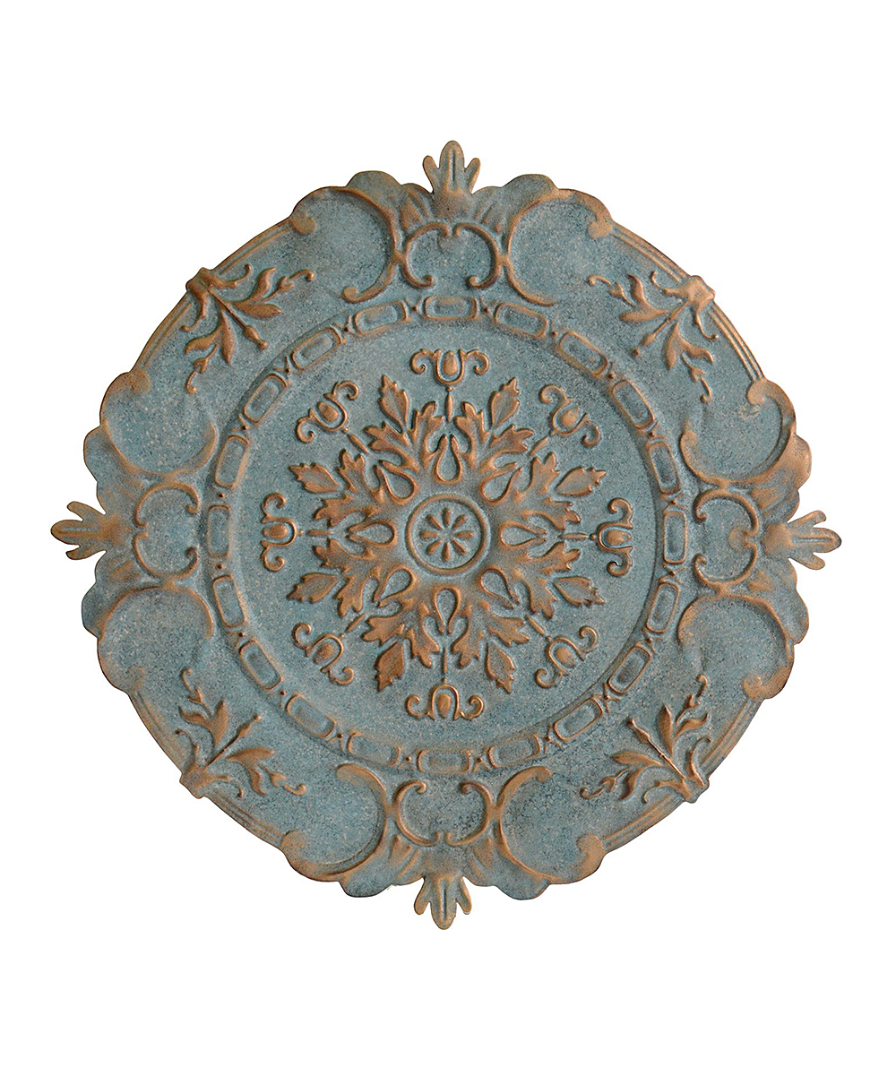 Stratton Home Decor  Wall Decor Blue - Blue European Medallion Wall Decor Blue European Medallion Wall Decor. Accent your space with eye-catching old world flair courtesy of this intricate metal wall decor. 30.5'' diameterMetalReady to hangImported