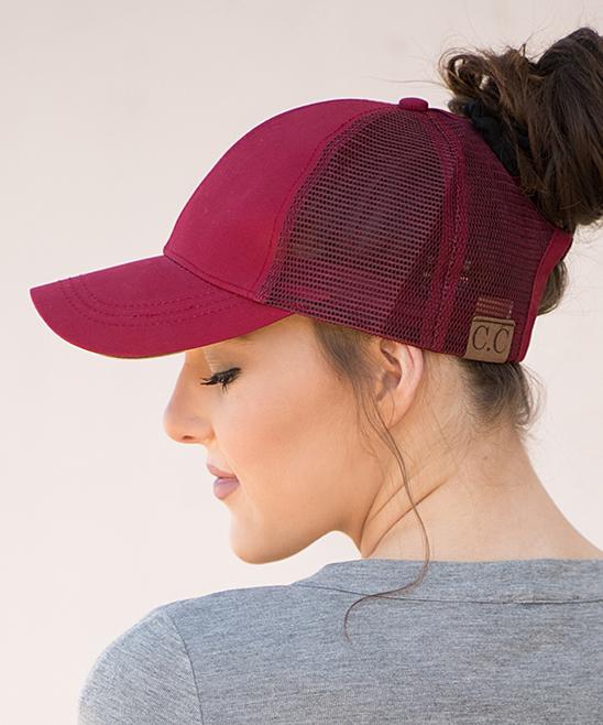 Ailis Corner Wine Top Knot Trucker Hat  b60053eb57f4