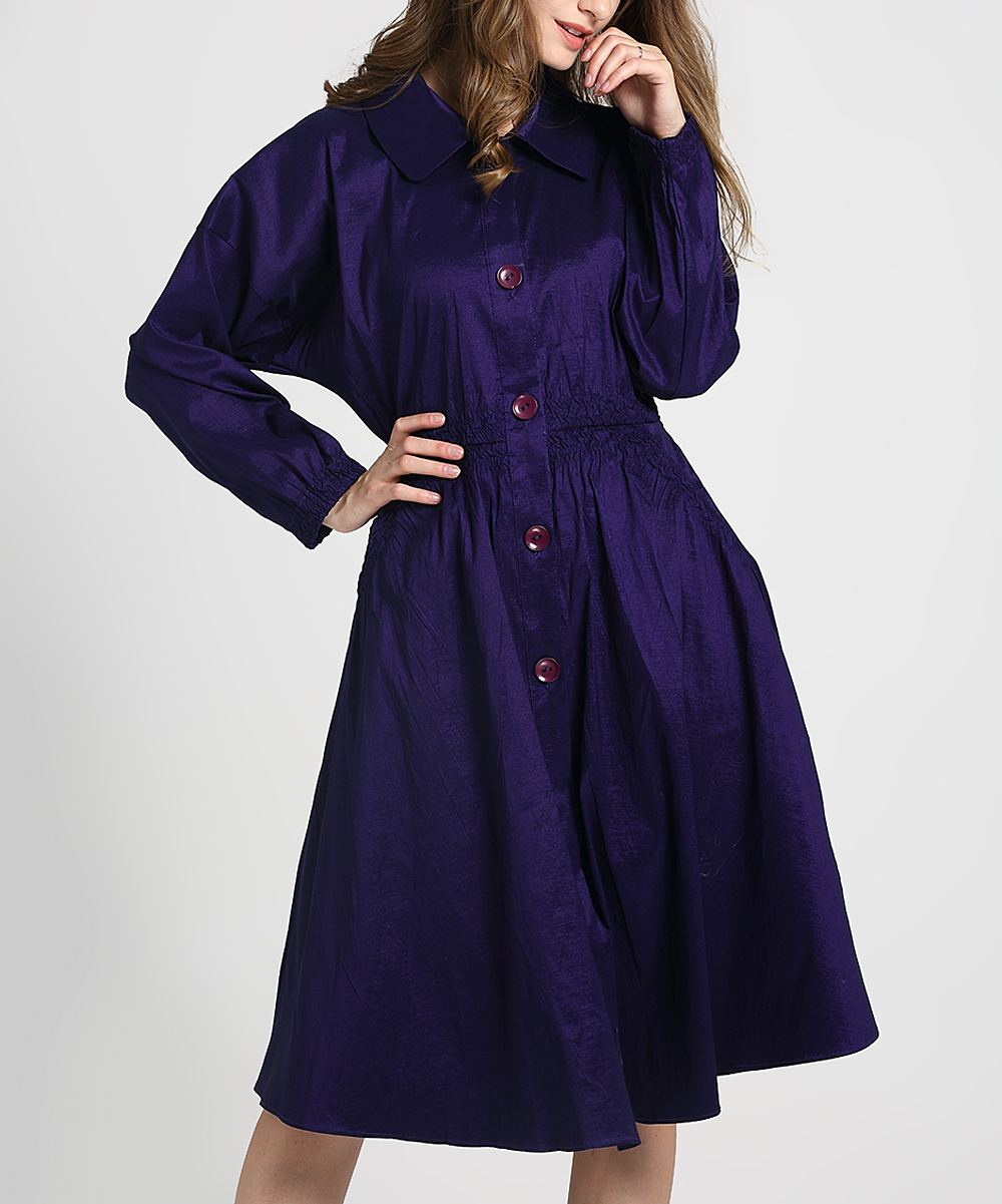 Jerry T Fashion Purple Shirt Dress Women Zulily