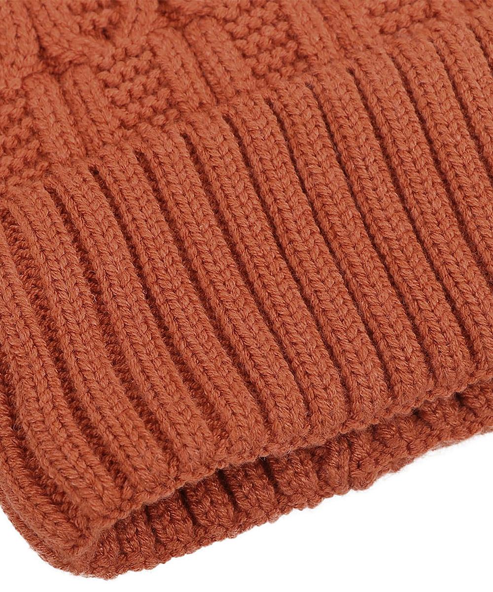60f04c82b ARCTIC PAW Burnt Orange Sherpa Faux-Fur Pom-Pom Beanie