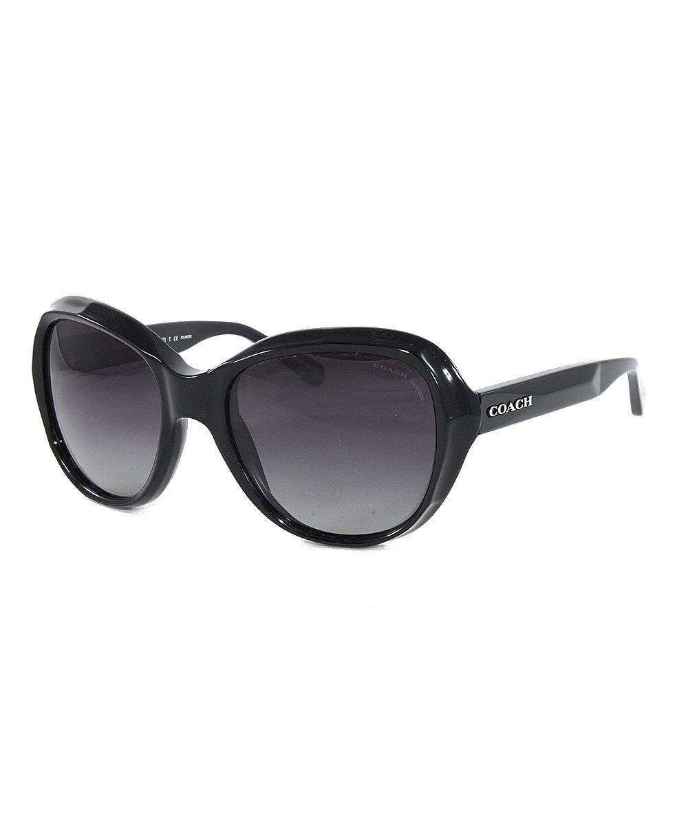 81c69ba37b Coach Black   Dark Gray Gradient Oversize Cat-Eye Sunglasses