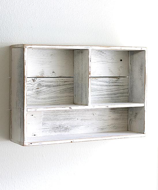 Doug Cristy Designs White Tri Storage Wood Wall Shelf Zulily