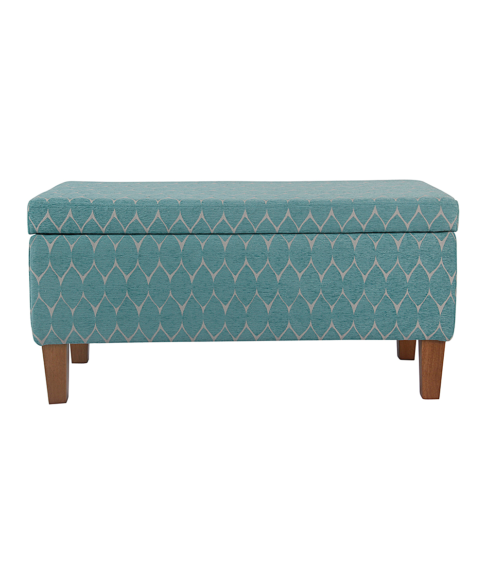 Delicieux Love This Product Teal Geometric Storage Bench