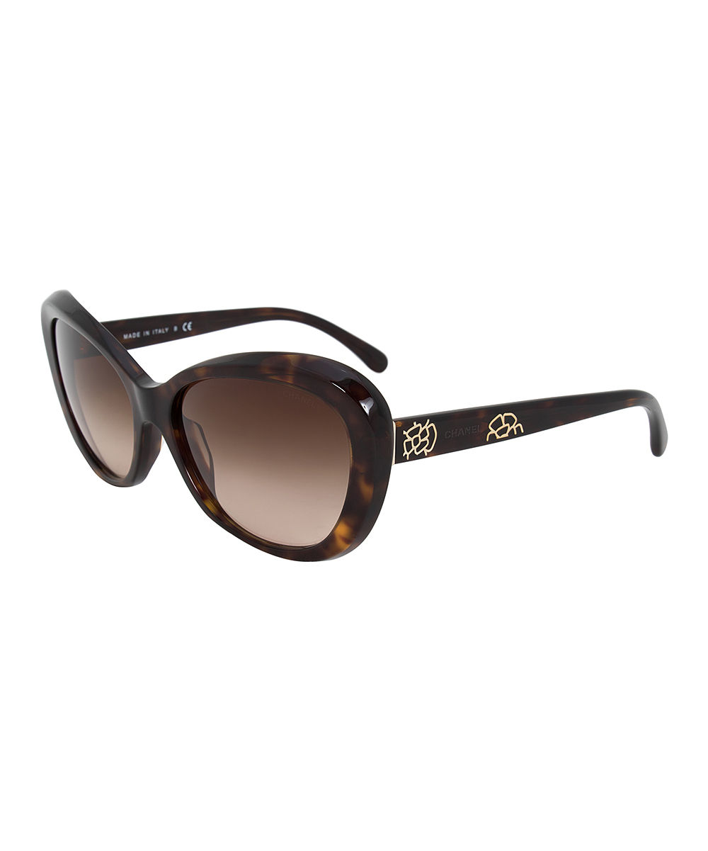 62b77537de369 all gone. Tortoiseshell Floral-Accent Cat-Eye Sunglasses