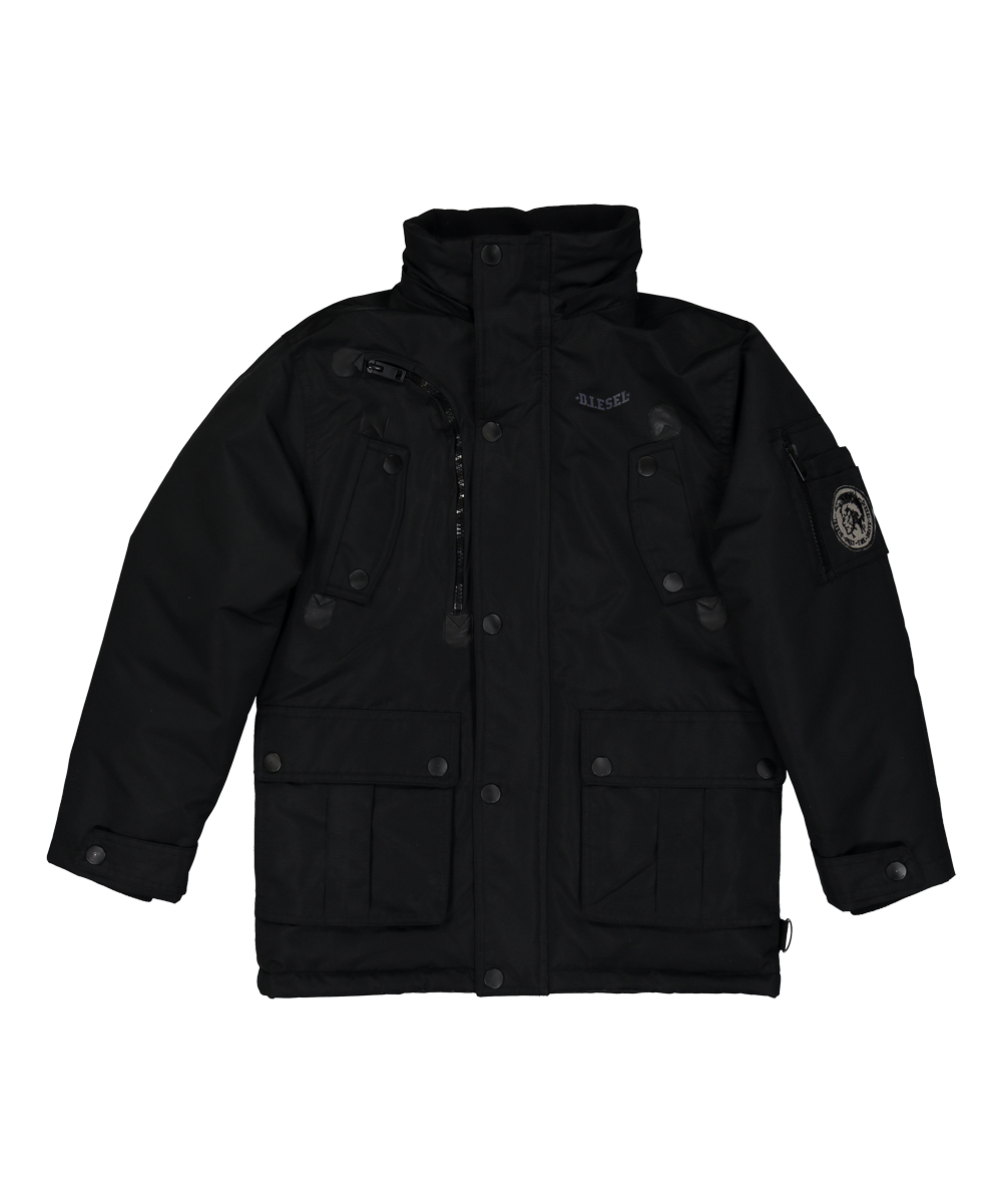 19ea19e67 Diesel Black Faux Fur Hooded Jacket - Toddler   Boys