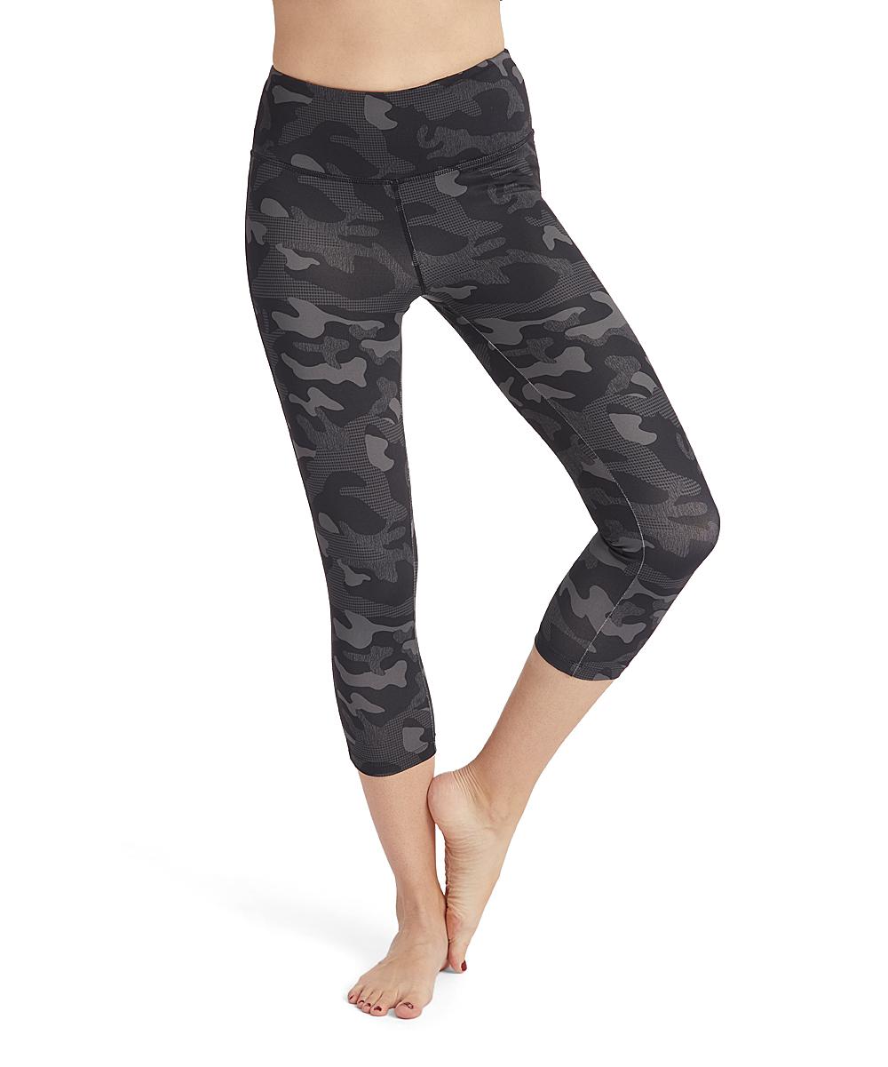 2df9ab7118807 VOGO Black Camo Capri Leggings - Women | Zulily