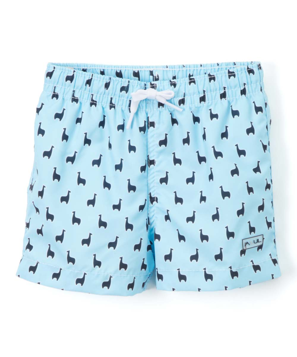 53afd6bfa5 Azul Swimwear Light Blue Llama Swim Shorts - Infant | Zulily