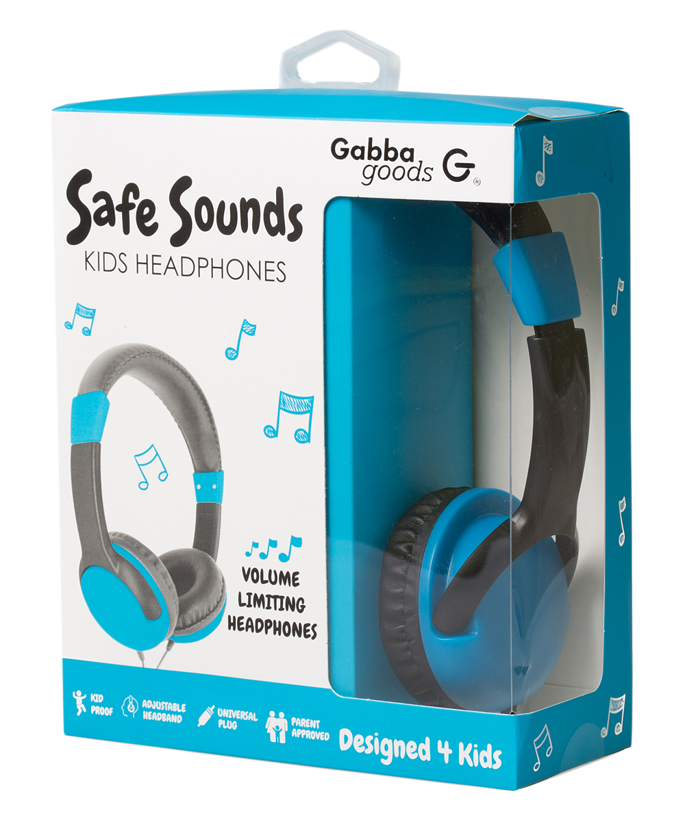 Blue Volume Limiting On-Ear Headphones
