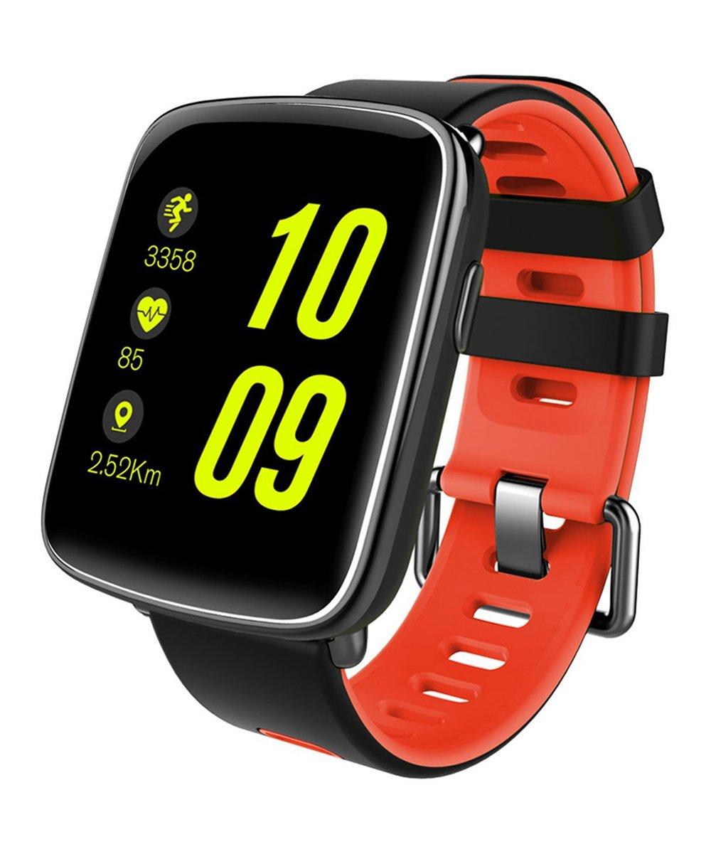 KOCASO  Smart Watches Red - Red Waterproof Sport Smart Watch