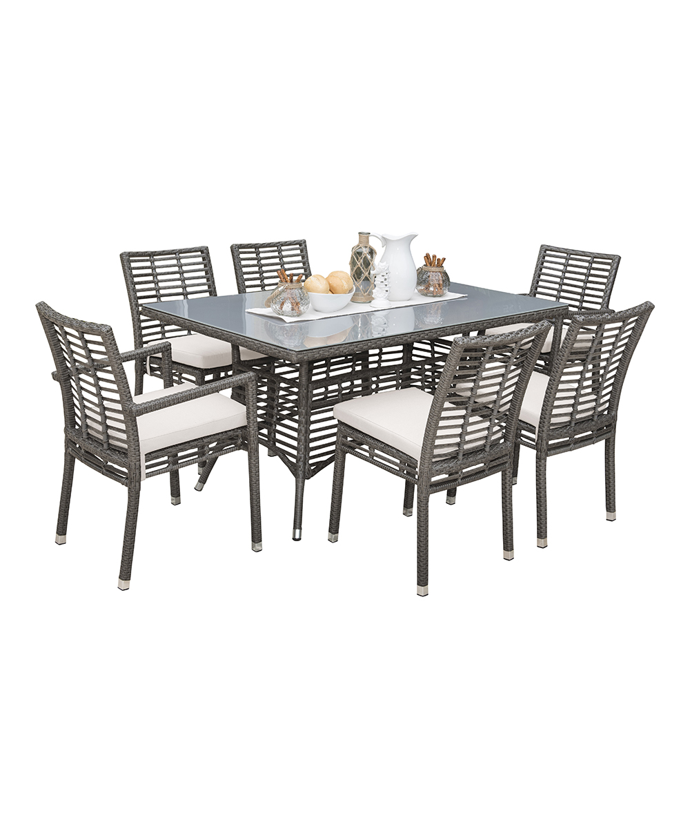 Panama Jack Graphite Seven-Piece Dining Table Set  da88106246