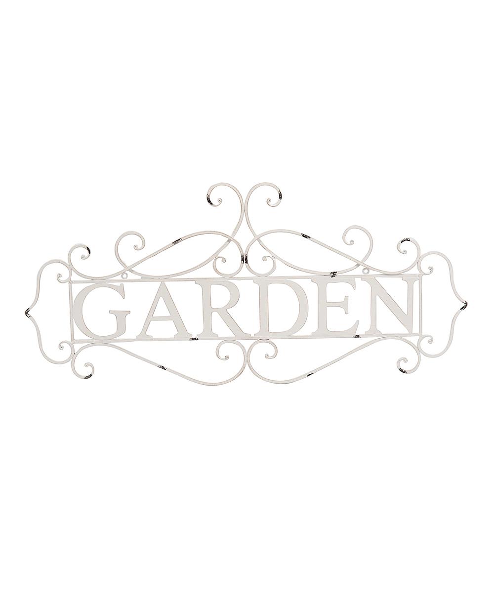 Transpac  Outdoor Wall Decor  - 'Garden' Metal Sign