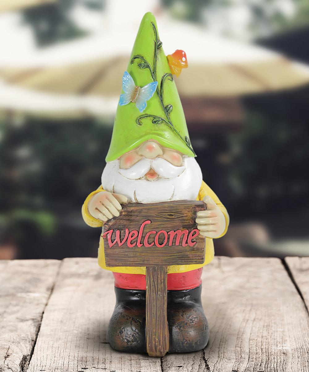 Green Hat Solar Colorful Gnome