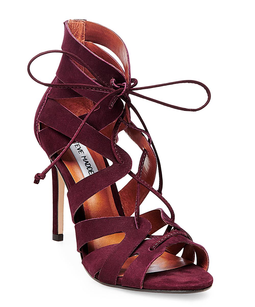 4189eaa5dfa Steve Madden Wine Bae Leather Sandal - Women