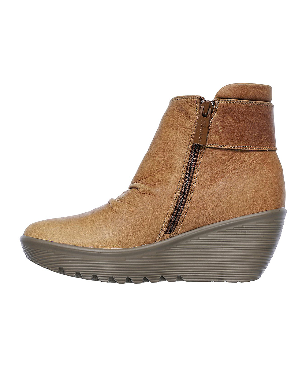fa03f70bbc6f Skechers Tan Parallel Fastened Leather Boot