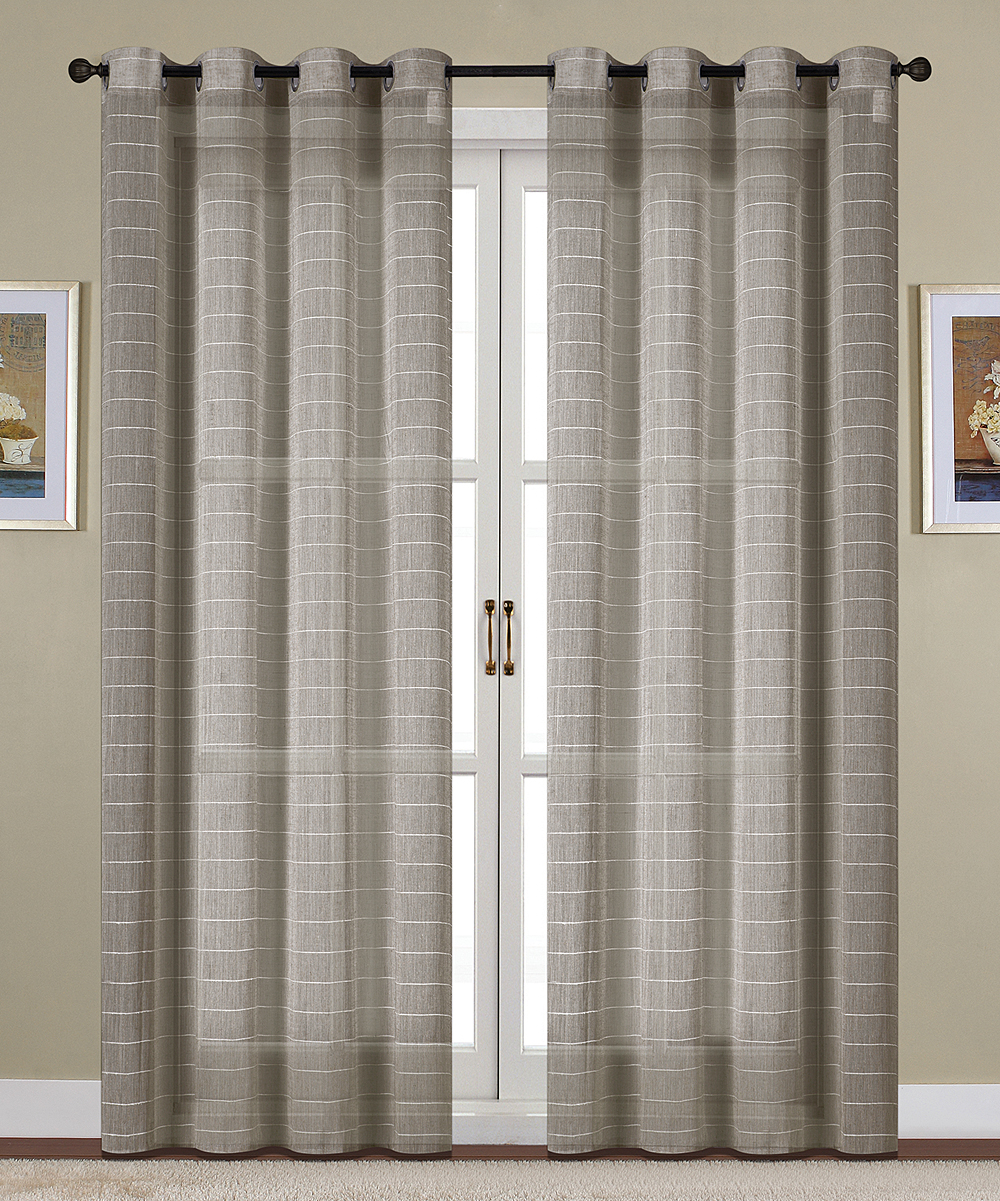 S.L. Home Fashions  Window Curtains Charcoal - Charcoal Giselle Curtain Panel - Set of Two