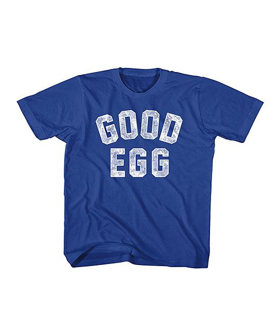 American Classics  Tee Shirts ROYAL - Royal 'Good Egg' Tee - Kids