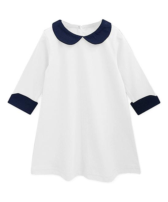 428d7f382c87 A.T.U.N. White   Navy Charlotte Shift Dress - Infant