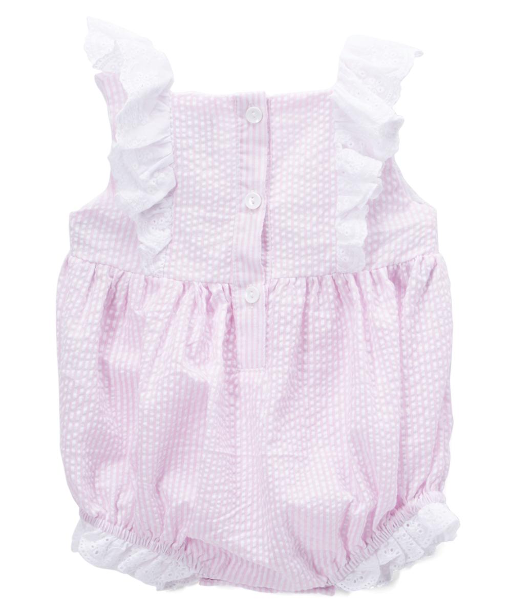 563891317dc2 Lil Cactus Pink Seersucker Unicorn Romper - Toddler