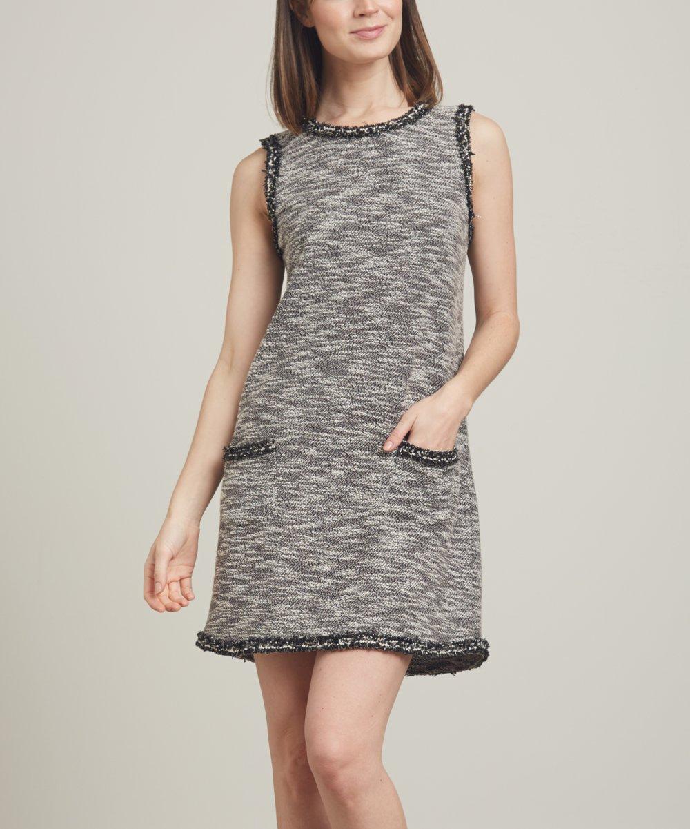 943486cbe12a4f Relished Gray Sleeveless Pocket Sweater Dress - Women