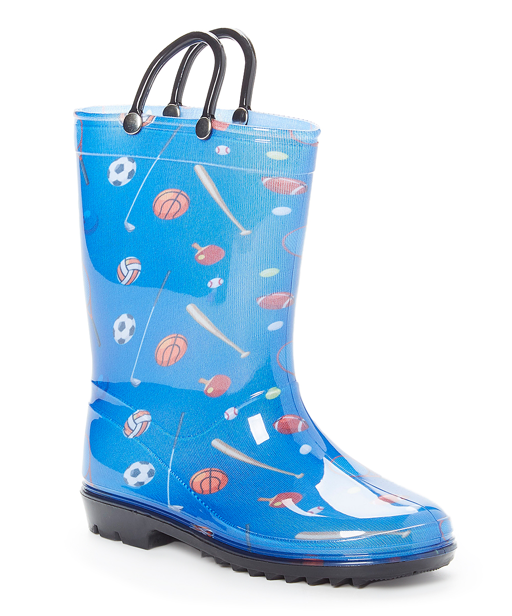 Storm Kidz Boys' Rain boots Sports - Blue Sports Rain Boot - Boys