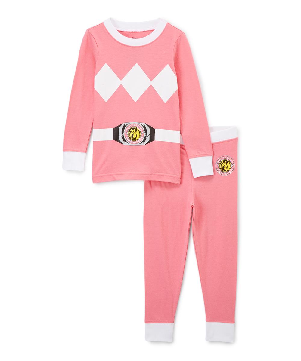 9810322351 Intimo Mighty Morphin Power Rangers Pink Pajama Set - Toddler
