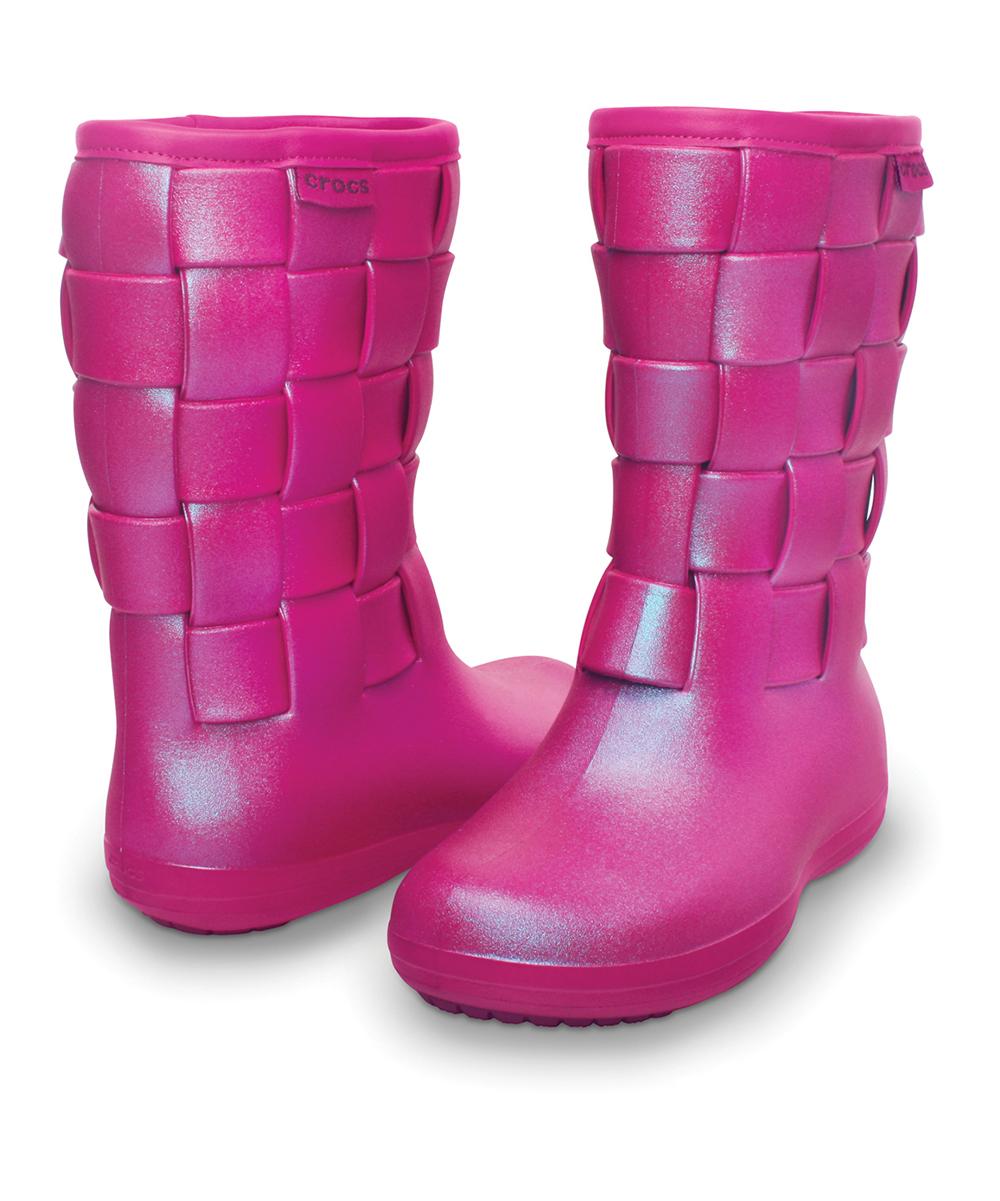 a75c3cd1a Crocs Berry Super Molded Iridescent Weave Boot - Women