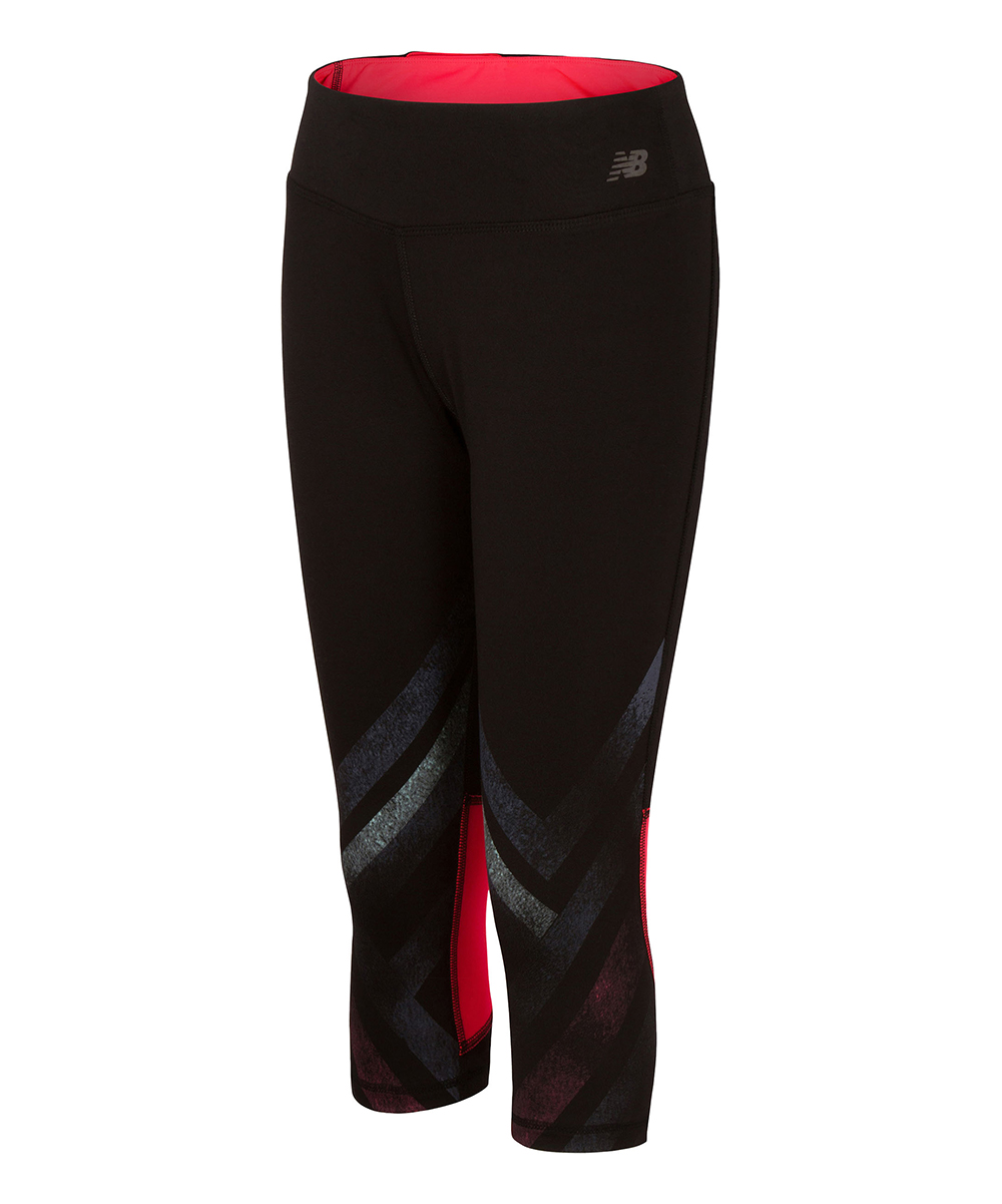 Black & Vivid Coral Fashion Performance Capri - Girls Black & Vivid Coral Fashion Performance Capri - Girls. Add a girly touch to her workout gear with these colorful performance capris.93% polyester / 7% spandexMachine washImported