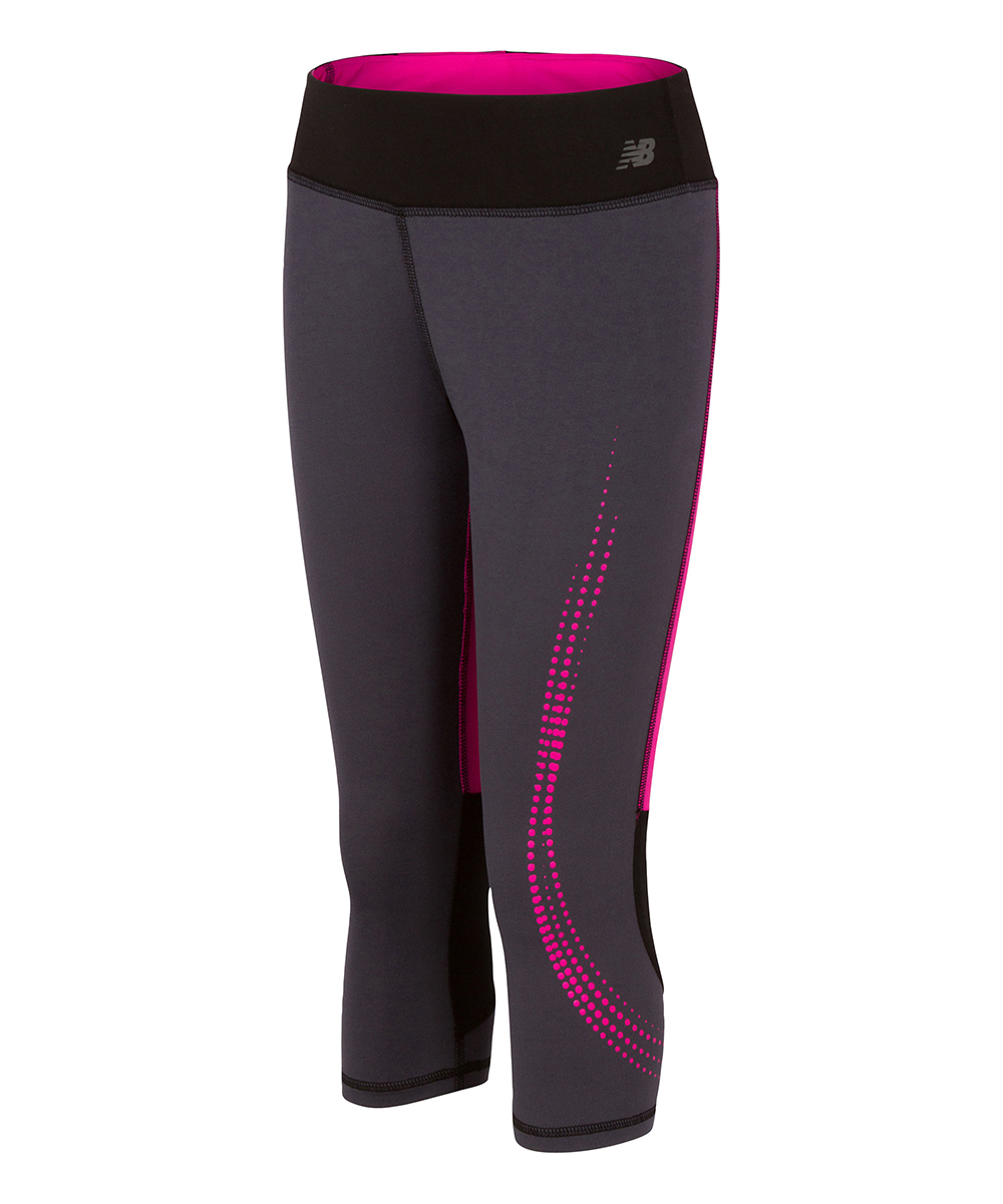 Thunder & Pink Fashion Performance Capri - Girls Thunder & Pink Fashion Performance Capri - Girls.  Add a girly touch to her workout gear with these colorful performance capris.93% polyester / 7% spandexMachine washImported