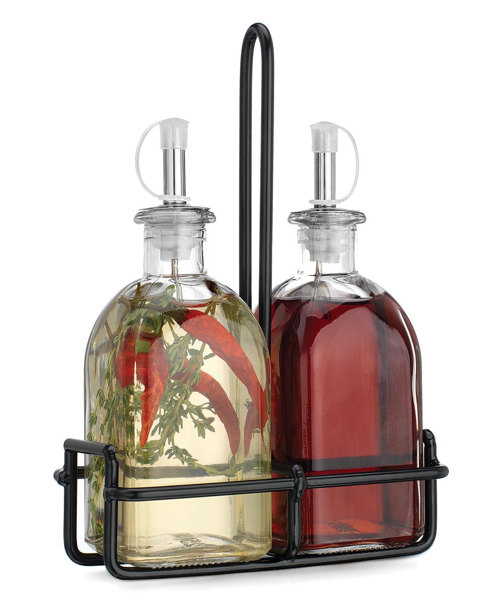 Oil & Vinegar Cruet Caddy Set