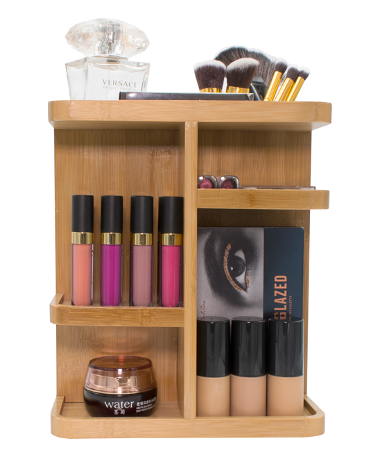 Sorbus  Cosmetic Organizers Wood - Bamboo Cosmetics Organizer Bamboo Cosmetics Organizer. Store your cosmetics neatly in this caddy that rotates on its base to give you quick access to whatever you need. Cosmetics not included7.12'' W x 11.75'' H x 10'' DBambooImported