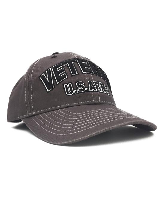 db59862fd86 Black Ink Design Black U.S. Army Veteran Embroidered Baseball Cap ...