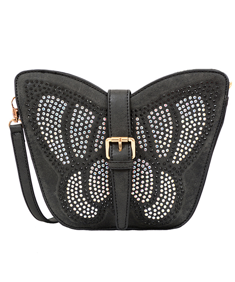 8fade208df Mellow World Black Avery Butterfly Crossbody Bag - Girls