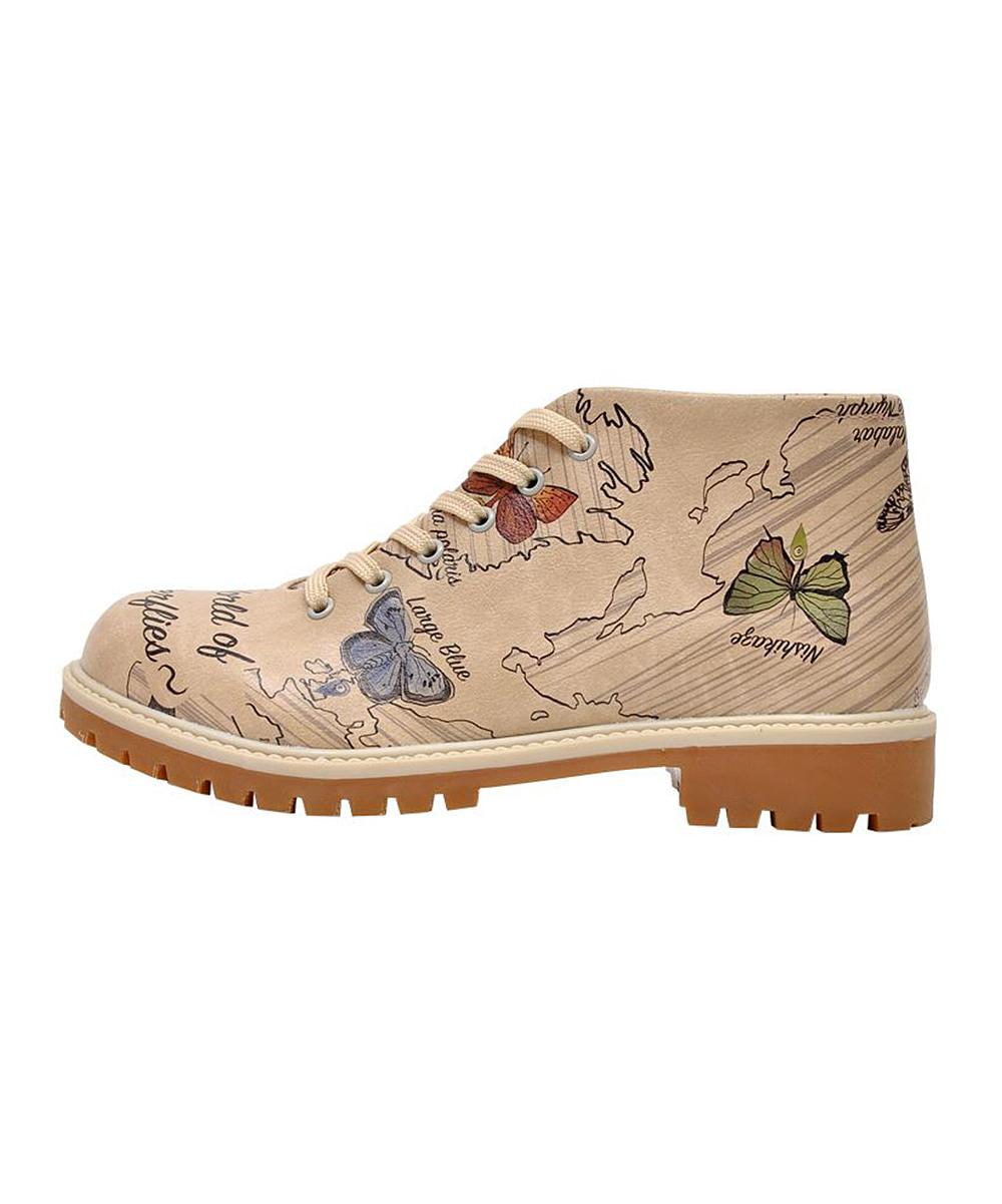 World Beige Of Boot Dogo Butterflies 53A4jRL